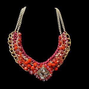 Goldtone Bib Necklace